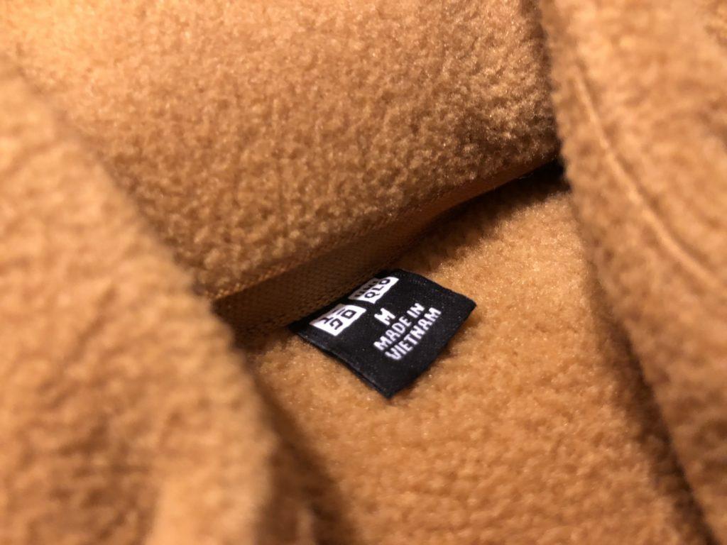 ユニクロのフリースジャケットはMサイズがぴったり