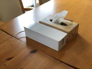 シンプルでおしゃれな白のORICO ケーブルボックス
