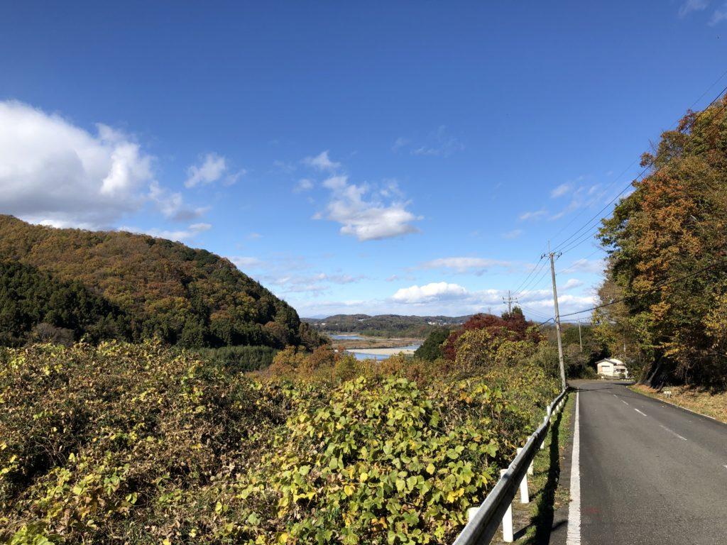 和の道からはいろいろな那珂川が見られる