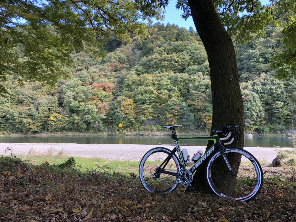秋の紅葉狩りの時期に絶景になる落石のひのきや前