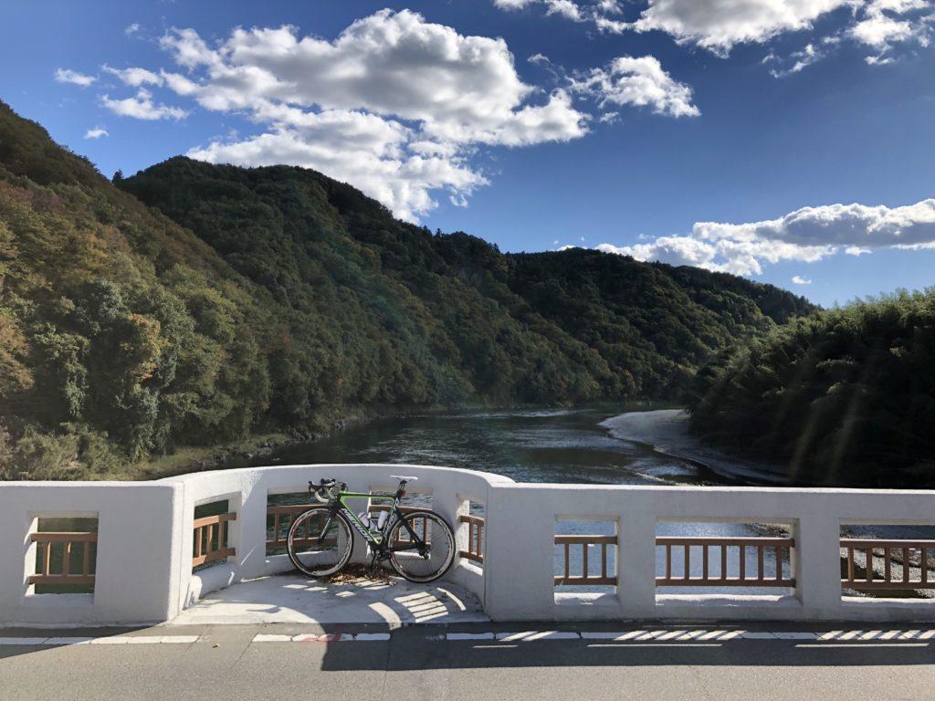 落石を望む、近代化遺産の境橋
