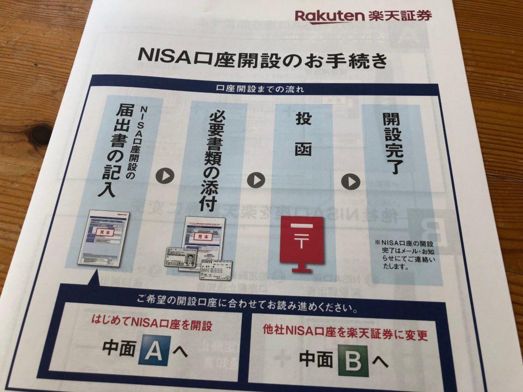 楽天証券つみたてNISA口座開設の必要書類送付手順