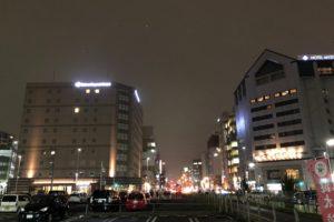宇都宮駅東口のダイワロイネットホテル宇都宮(左側の建物)